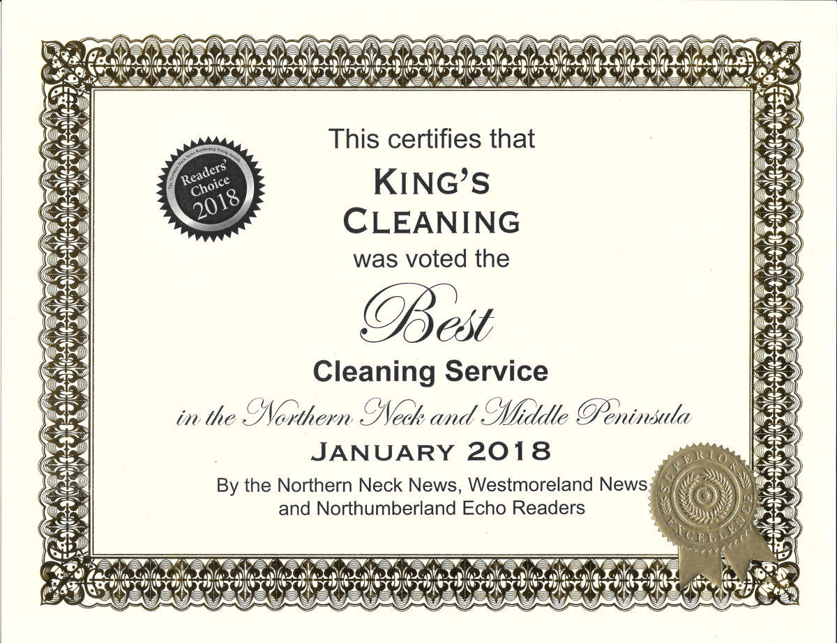 2018 Voted Best Cleaning Service